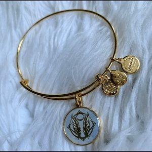 Alex and Ani Dangle Feather Charm Bangle Bracelet